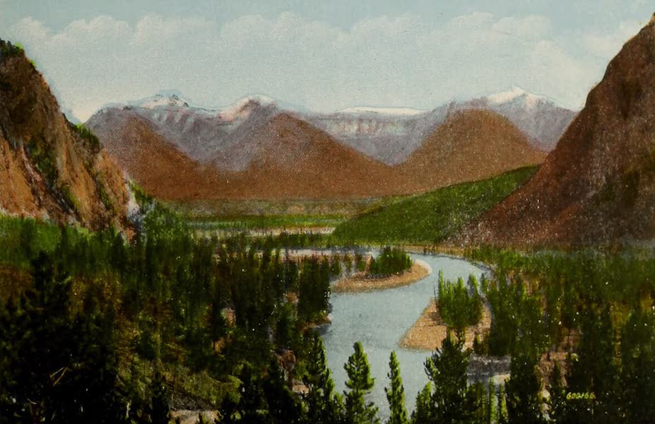 Souvenir of the Rockies [Canadian Rockies] - Bow River from Banff Springs Hotel (1910)