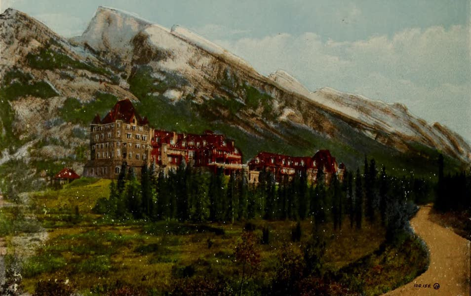 Souvenir of the Rockies [Canadian Rockies] - Banff Hotel and Mount Rundle, Banff (1910)