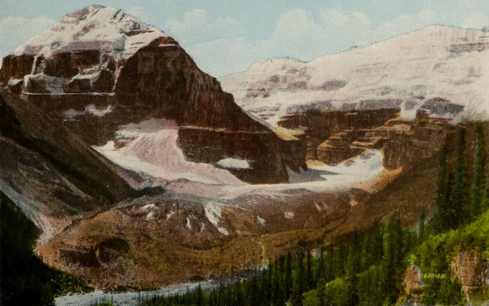 Souvenir of the Rockies [Canadian Rockies] - Victoria Glacier and Mount Lefroy, Laggan (1910)