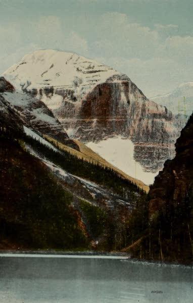 Souvenir of the Rockies [Canadian Rockies] - Mount Lefroy (Alt. 11,290), Lake Louise (1910)