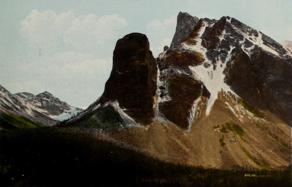 Souvenir of the Rockies [Canadian Rockies] - Tower of Babel and Mount Fay, Ten Peak Valley (1910)