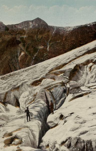 Souvenir of the Rockies [Canadian Rockies] - Asulkan Glacier, showing Crevasse, Glacier, B.C. (1910)