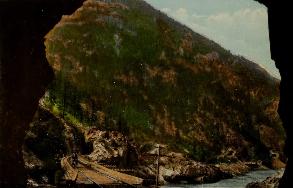 Souvenir of the Rockies [Canadian Rockies] - Along the Fraser Canyon, showing Four Tunnels (1910)