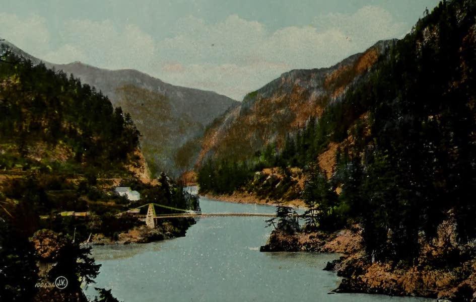 Souvenir of the Rockies [Canadian Rockies] - Cariboo Bridge, near Spuzzmum, B.C. (1910)