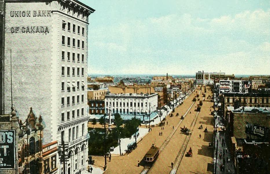 Souvenir of Winnipeg-Manitoba - Main Street, looking North (1911)