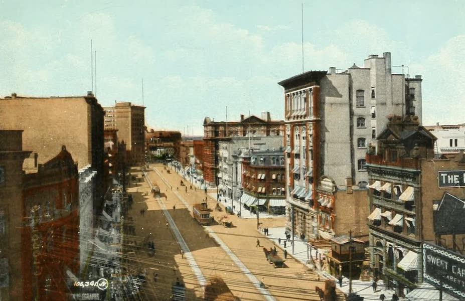 Souvenir of Winnipeg-Manitoba - Main Street, looking North from Portage Ave (1911)
