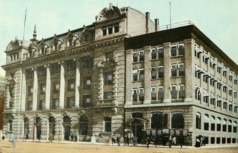 Souvenir of Winnipeg-Manitoba - Post Office and Free Press Building (1911)