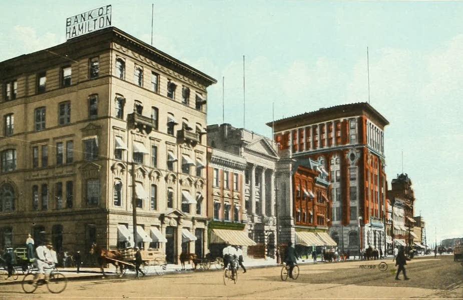Souvenir of Winnipeg-Manitoba - Banking Section, Main Street (1911)