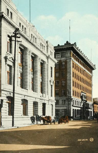 Souvenir of Winnipeg-Manitoba - Great West Life and Grain Exchange Buildings (1911)