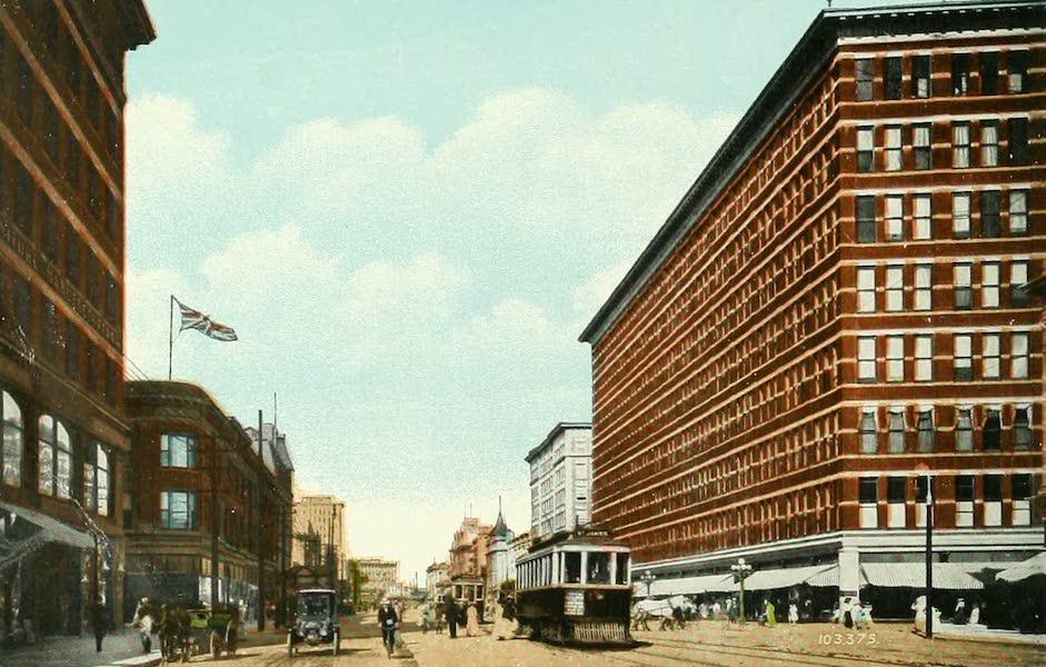 Souvenir of Winnipeg-Manitoba - Portage Avenue, looking East (1911)