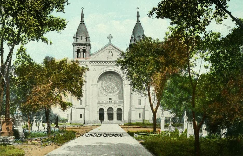 Souvenir of Winnipeg-Manitoba - St. Boniface Cathedral [I] (1911)