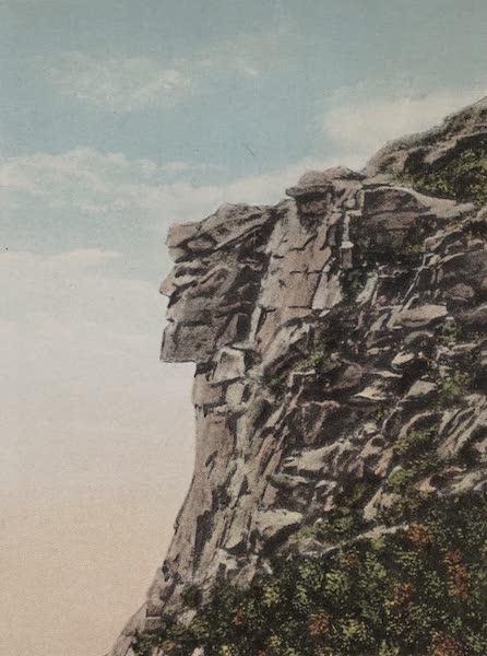 Souvenir View Book of the White Mountains - Old Man of the Mountain, Franconia Notch (1923)
