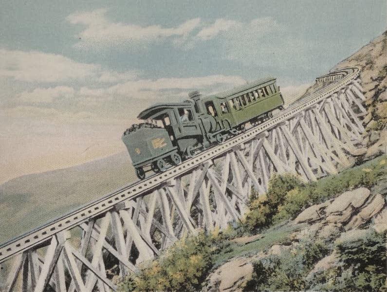 Souvenir View Book of the White Mountains - Jacob's Ladder, Mt. Washington Railway (1923)