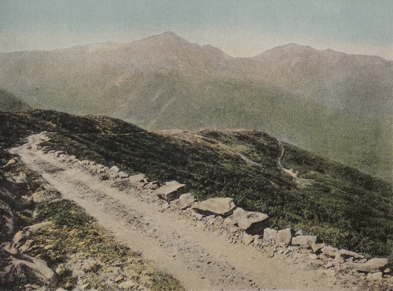 Souvenir View Book of the White Mountains - Mts. Adams and Madison fro mMt. Washington Carriage Road (1923)