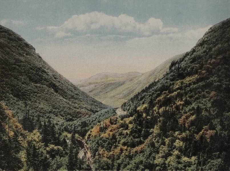 Souvenir View Book of the White Mountains - Crawford Notch from Elephant's Head (1923)