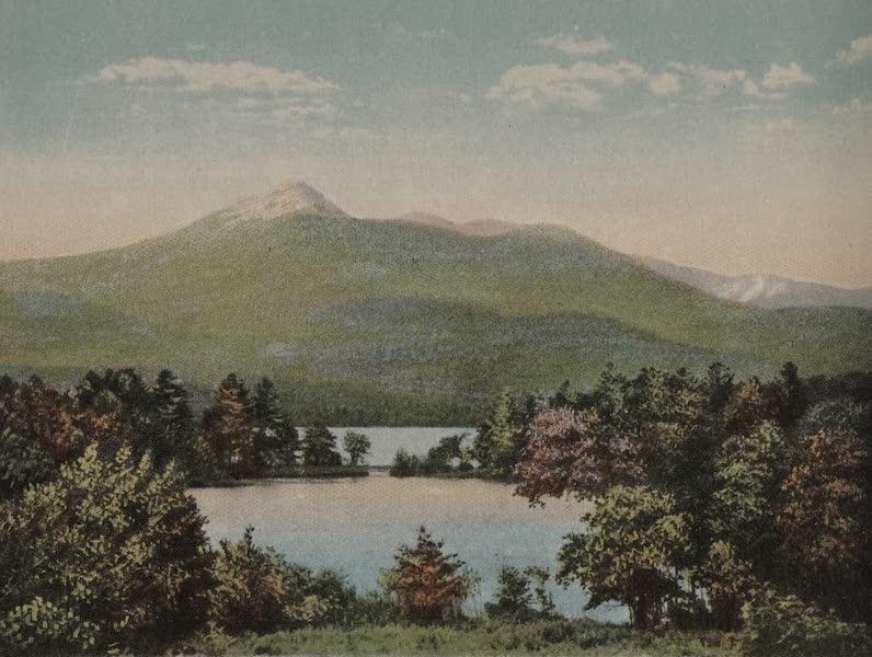 Souvenir View Book of the White Mountains - Mt. Chocorua and Chocorua Lake (1923)