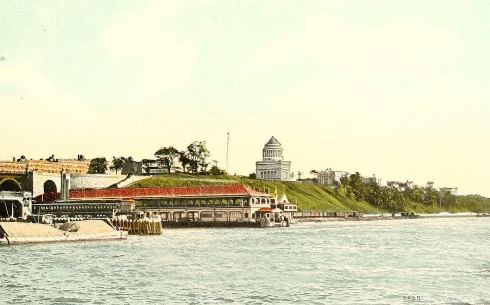 Souvenir Views of the Hudson River Vol. 1 - Grant's Tomb and Riverside Drive from the Hudson River, New York City (1909)