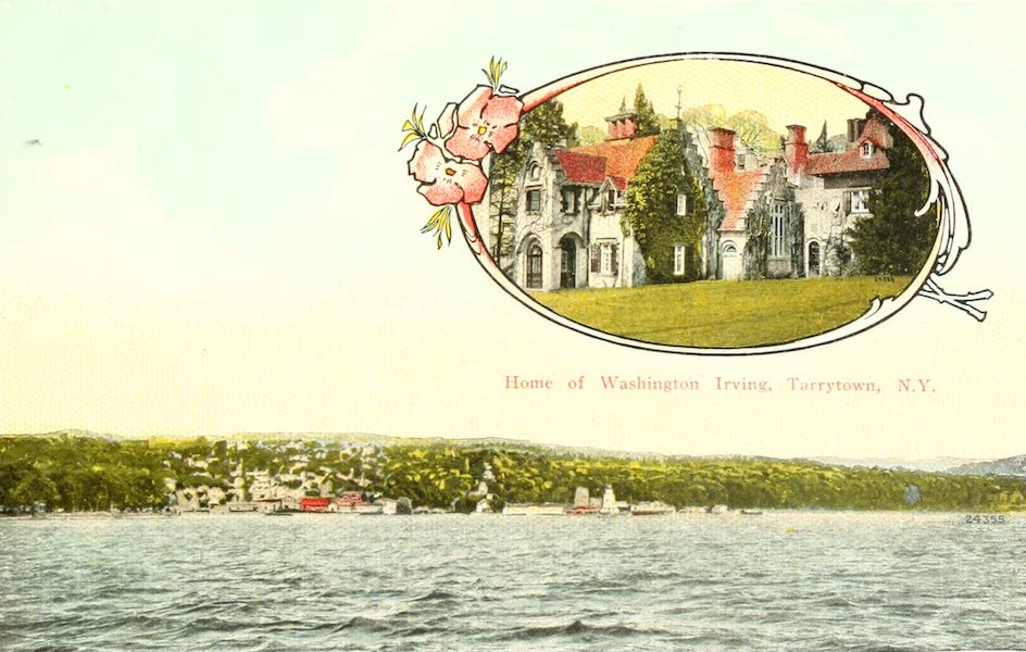 Souvenir Views of the Hudson River Vol. 1 - Tarrytown, N.Y., from the Hudson (1909)