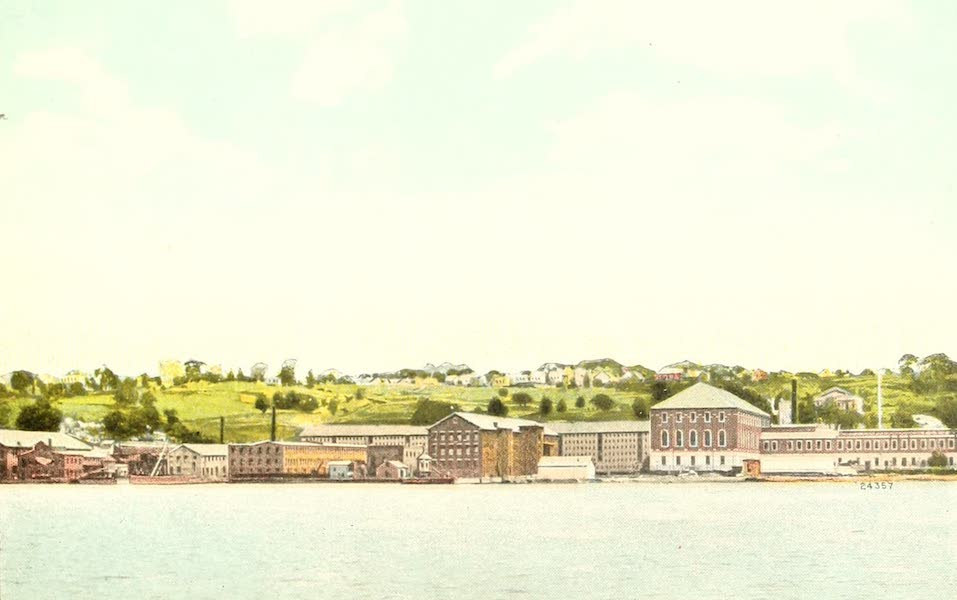 Souvenir Views of the Hudson River Vol. 1 - Sing-Sing Prison, Ossinging, N.Y., in Background (1909)