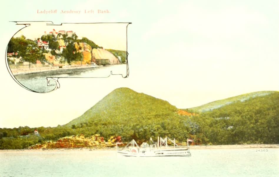 Souvenir Views of the Hudson River Vol. 2 - Sugar Loaf Mountains near West Point, N.Y. (1909)