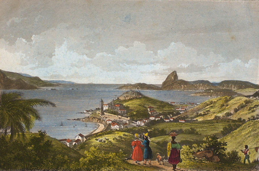 Souvenirs de Rio de Janeiro - Vista de N.S. da Gloria et da Barra do Rio de Janeiro (1835)