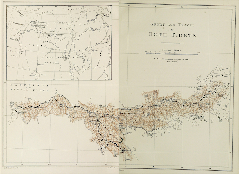 Sport and Travel in Both Tibets - Sport and Travel in Both Tibets [Map] (1909)