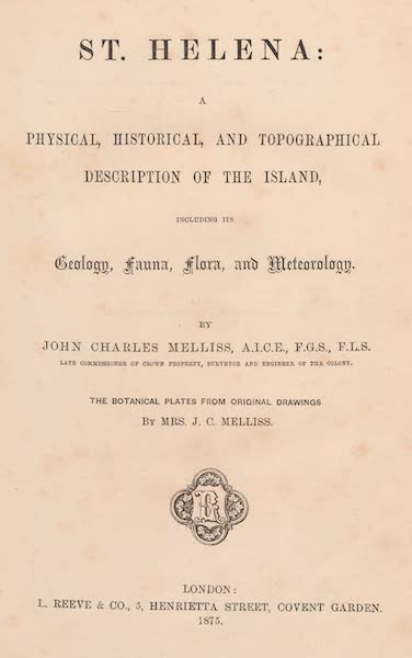 St. Helena: A Description of the Island - Title Page (1875)