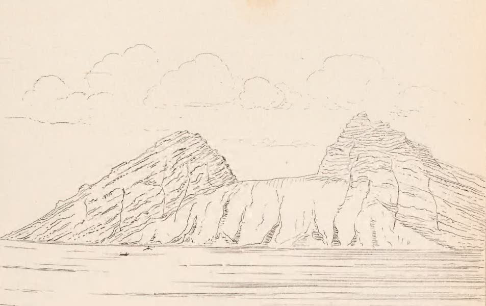 St. Helena: A Description of the Island - View Looking South from Sea of the Barn and Flagstaff Hill (1875)