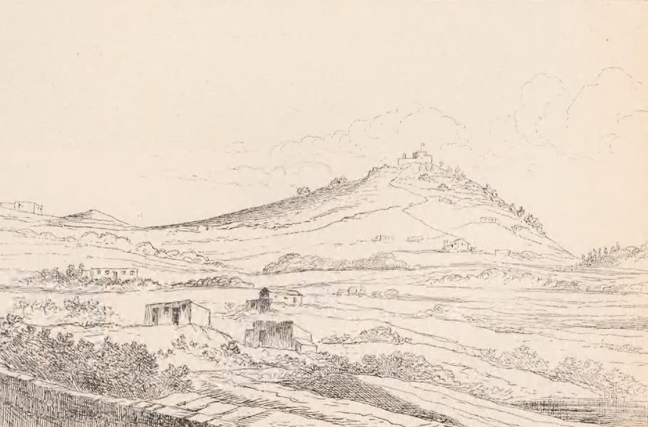 St. Helena: A Description of the Island - View Looking South of Lateral Volcanic Cone High Knoll (1875)