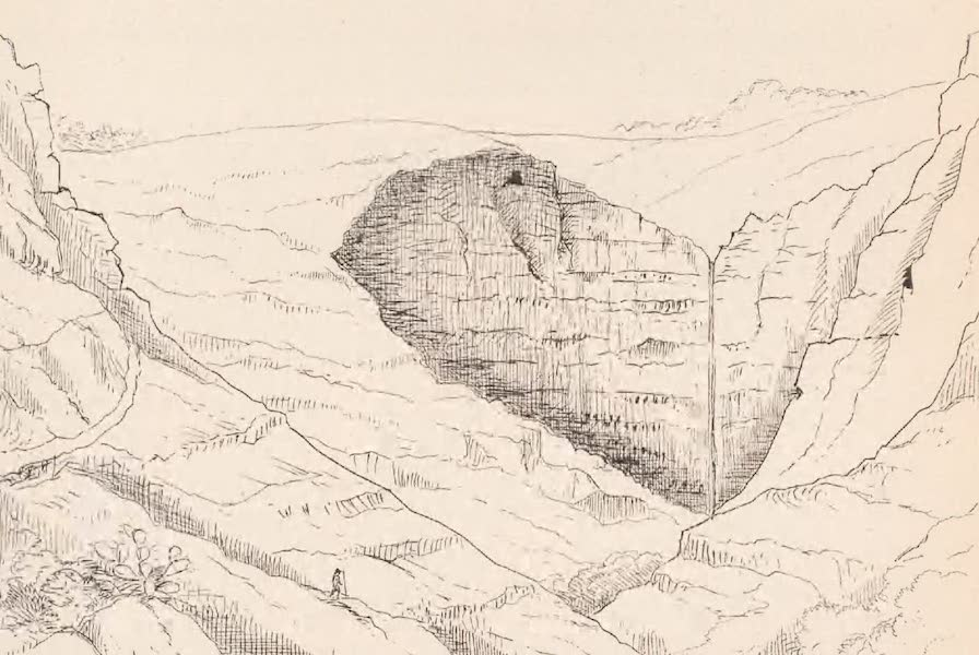 St. Helena: A Description of the Island - View Looking South of the Waterfall, Site of an Extinct Solfatara (1875)