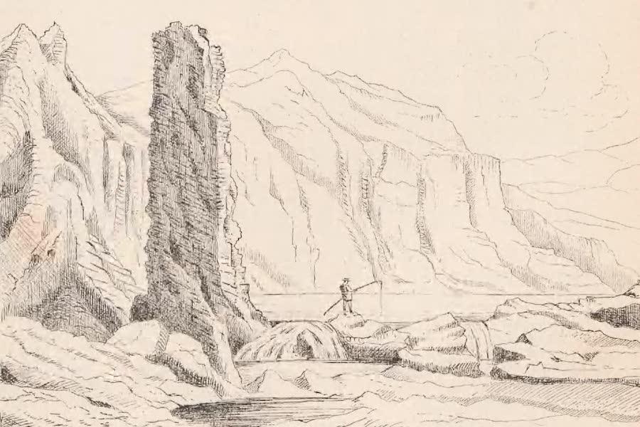 St. Helena: A Description of the Island - Dike called the Chimney on South Coast (1875)