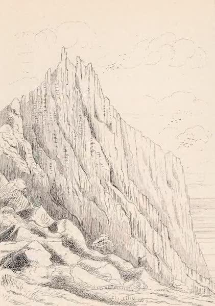 St. Helena: A Description of the Island - Portion of Great Dike - Ass's Ears (1875)