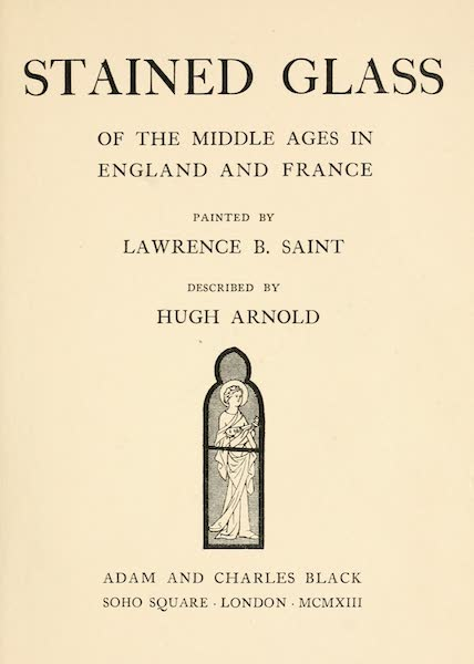 Stained Glass of the Middle Ages in England and France - Title Page (1913)