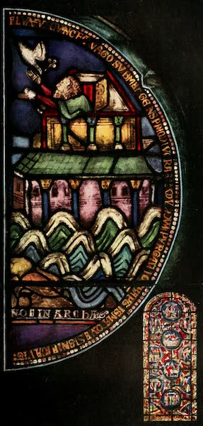 Stained Glass of the Middle Ages in England and France - Noë in Archa, from the north choir aisle, Canterbury. Twelfth century (1913)
