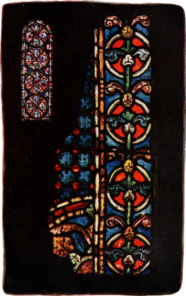 Stained Glass of the Middle Ages in England and France - Border and Mosaic Diaper, from the Trinity Chapel, Canterbury. Thirteenth century (1913)