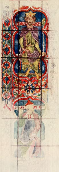 Stained Glass of the Middle Ages in England and France - David, from the clerestory of the apse, Chartres Cathedral. Thirteenth century (1913)