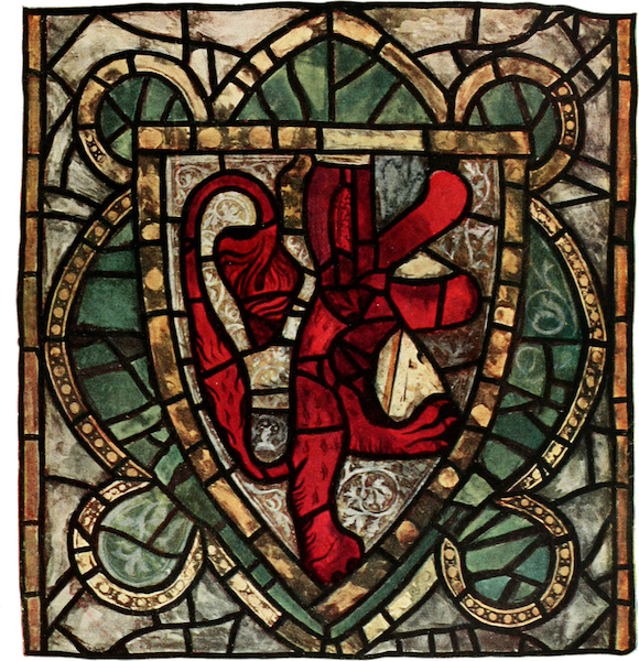 Stained Glass of the Middle Ages in England and France - Heraldic Panel, from the clerestory of the nave, York Minster. Early fourteenth century (1913)