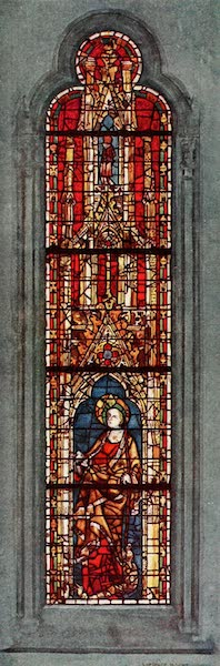 Stained Glass of the Middle Ages in England and France - St. Margaret, west window of north aisle of nave, York Minster. Fourteenth century (1913)