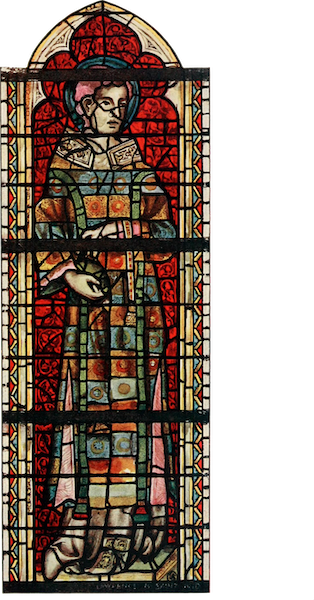 Stained Glass of the Middle Ages in England and France - St. Stephen, from south aisle of nave, York Minster. Fourteenth century (1913)