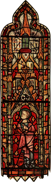 Stained Glass of the Middle Ages in England and France - St. John, from east window of south aisle, St. Martin's, Micklegate, York. Fourteenth century (1913)