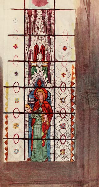 Stained Glass of the Middle Ages in England and France - St. Barnabas, from clerestory of nave of St. Pierre, Chartres. Early fourteenth century (1913)