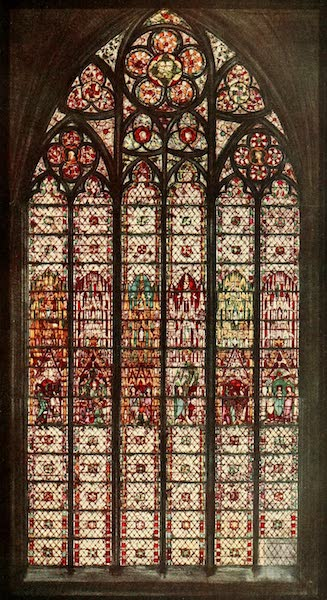 Stained Glass of the Middle Ages in England and France - Window with Life of St. Gervais, from south choir aisle, St. Ouen, Rouen. Fourteenth century (1913)