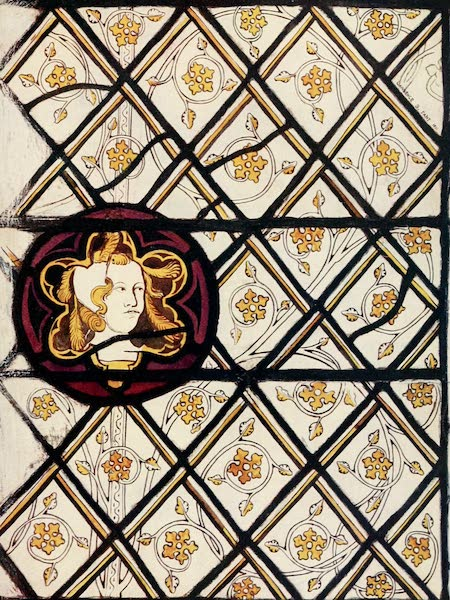Stained Glass of the Middle Ages in England and France - Grisaille pattern and boss from Plate (1913)