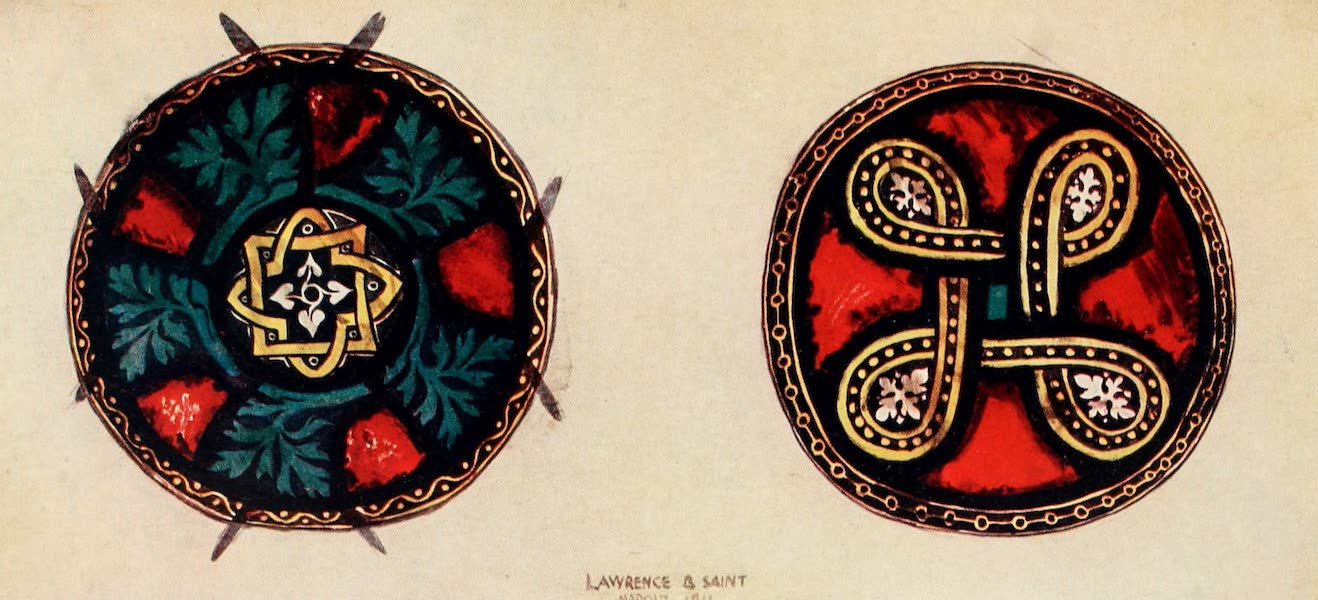 Stained Glass of the Middle Ages in England and France - Bosses, from Plate (1913)
