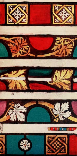 Stained Glass of the Middle Ages in England and France - Borders, from Plate (1913)