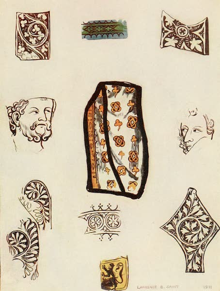 Stained Glass of the Middle Ages in England and France - Details, from Plate xiii (1913)