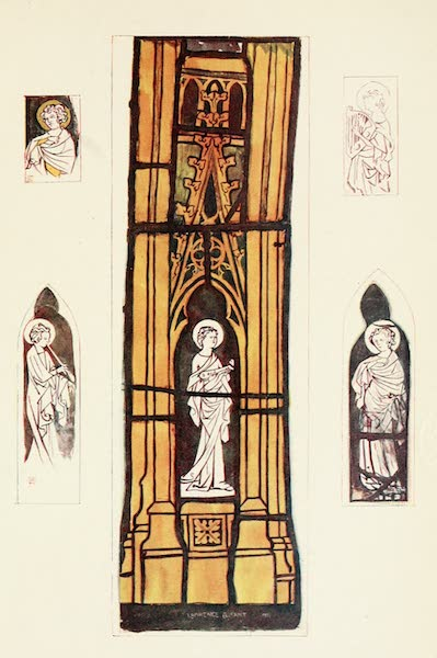 Stained Glass of the Middle Ages in England and France - Angels in canopy work of Plate (1913)
