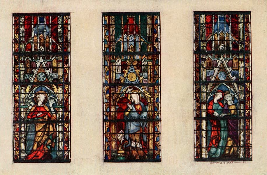 Stained Glass of the Middle Ages in England and France - The Annunciation, from St. Ouen, Rouen. Fourteenth century (1913)