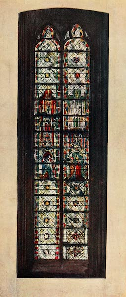 Stained Glass of the Middle Ages in England and France - Window in St. Bartholomew's Chapel, St. Ouen, Rouen. Fourteenth century (1913)