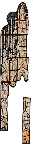Stained Glass of the Middle Ages in England and France - Canopy, from All Saints', North Street, York. Fifteenth century (1913)